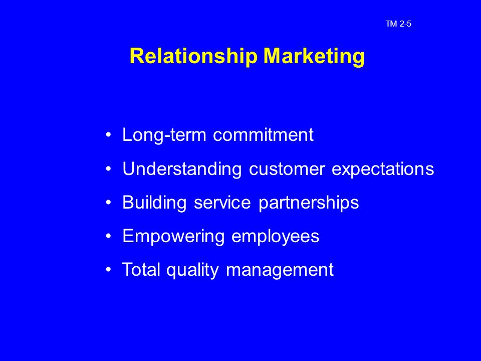 marketing and long term commitments