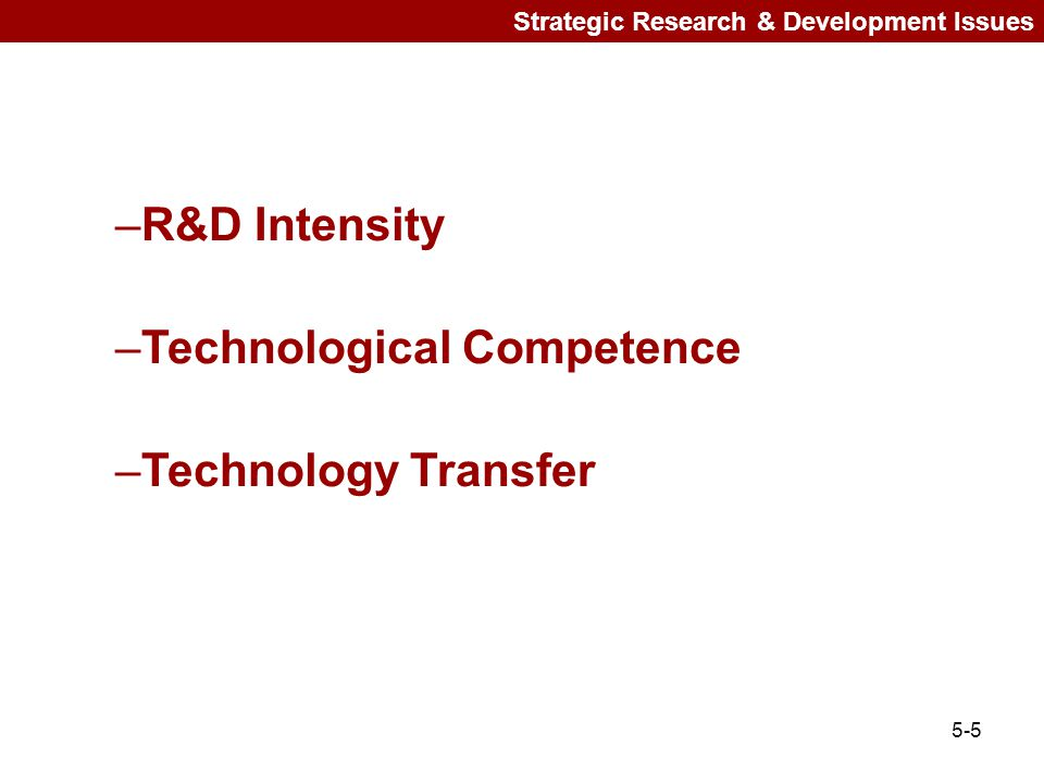 Technological Competence Technology Transfer