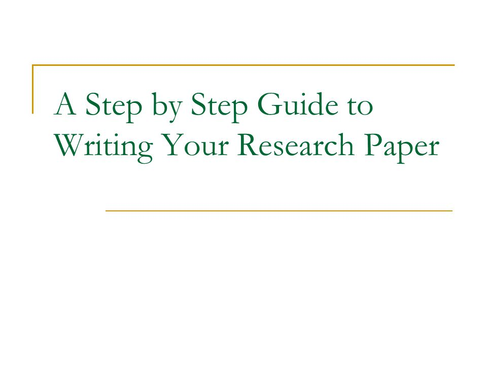 step by step how to write a research paper How to write a research paper:  information which is utilized to base your quest paper here are the steps to writing an effective research paper: step 1:.