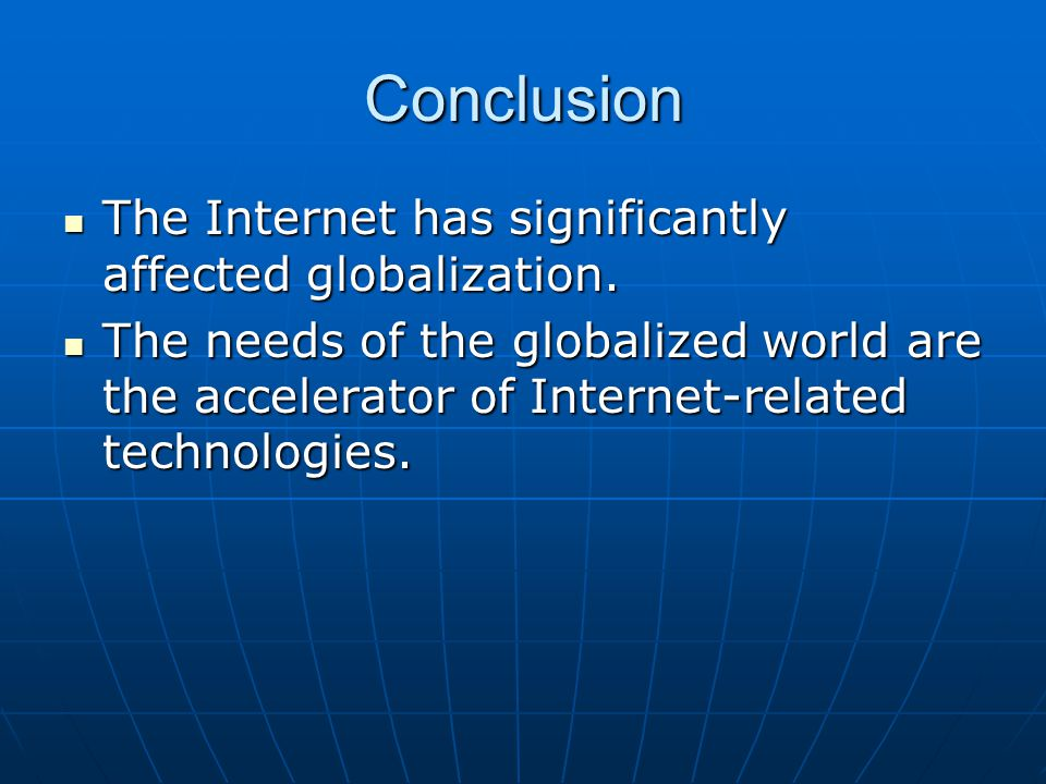 Globalization and the Internet – A Christian Considers the Impact