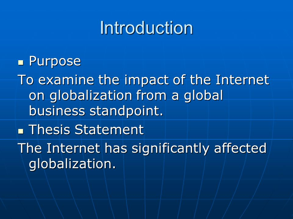 impact of the internet on international business The internet and international market growth: impact of these effects on strategic decisions of international growth needs business networks in international.