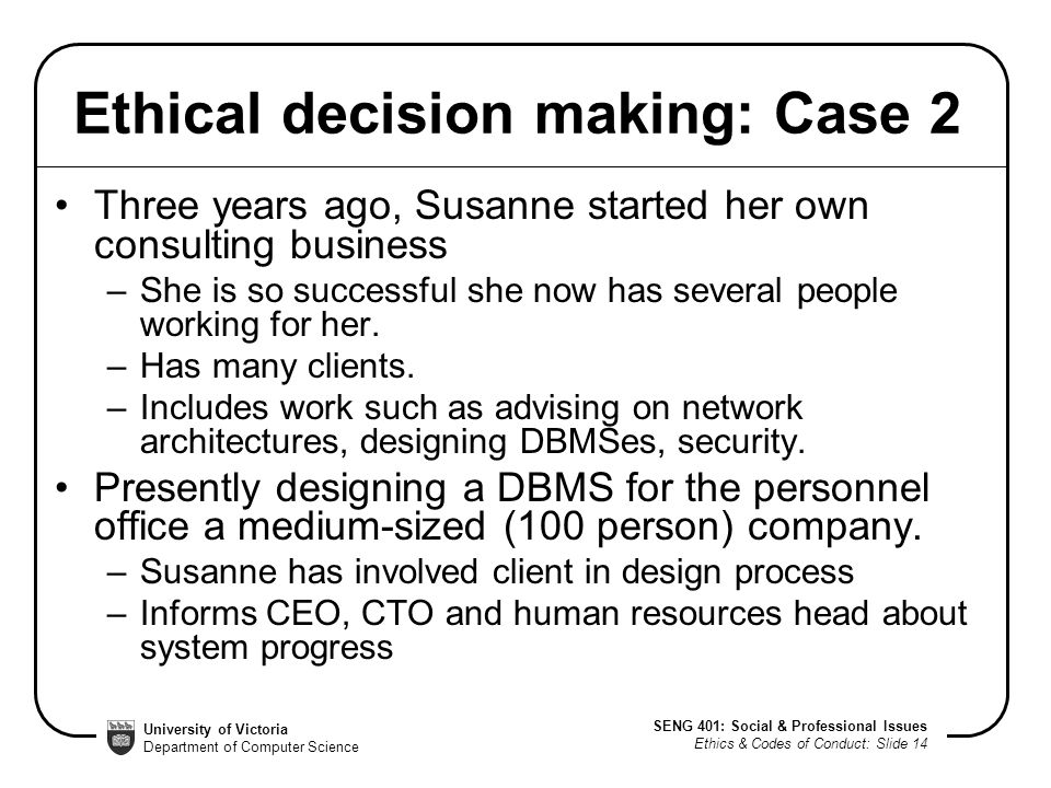 business case studies ethical issues Find out more about some of the most common ethical issues and challenges latest business ethics thinking resources case studies of organisational.