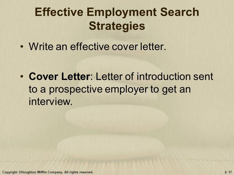 Effective Employment Search Strategies