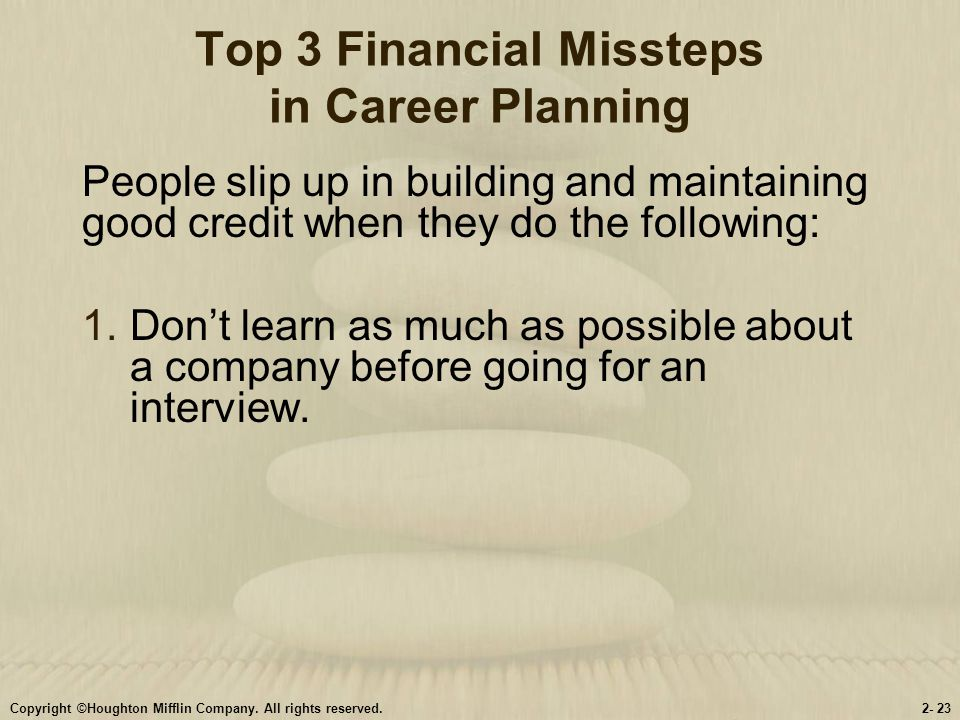 Top 3 Financial Missteps in Career Planning