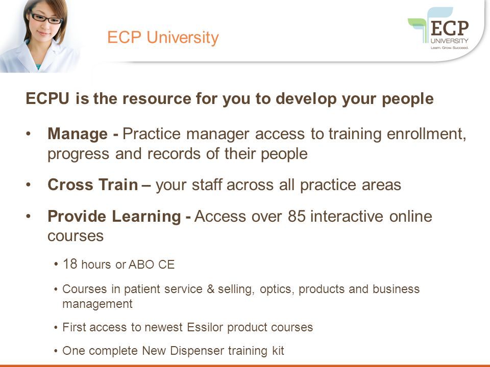 ECP University ECPU is the resource for you to develop your people