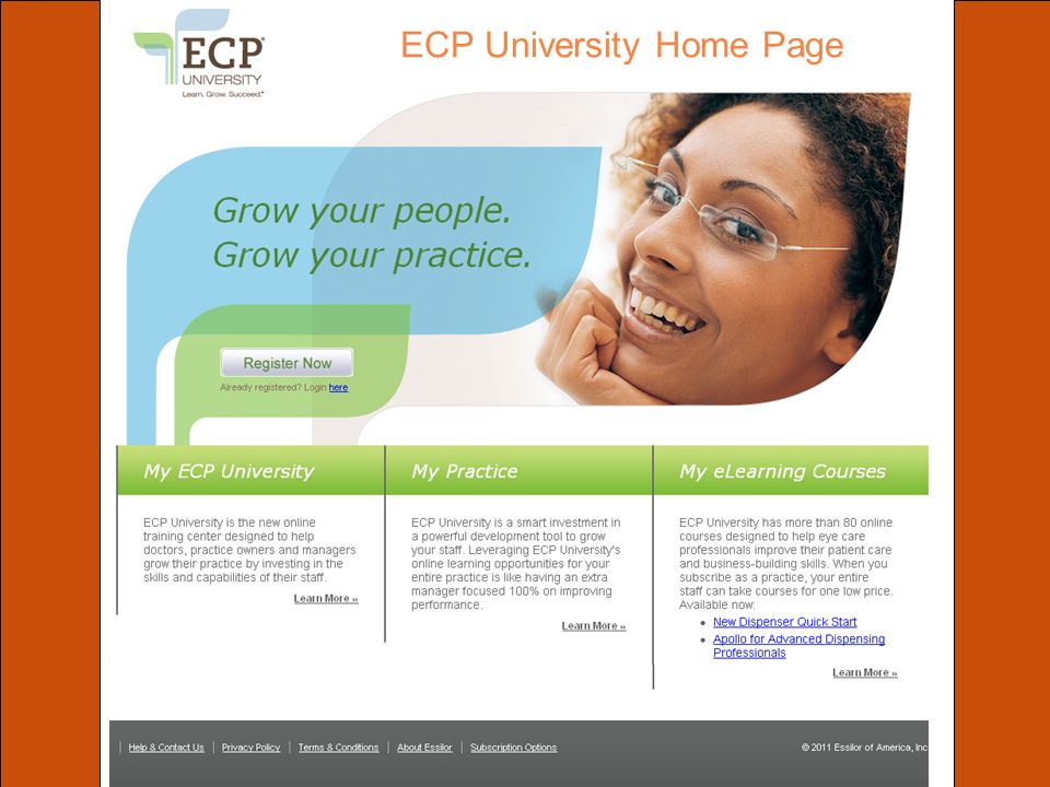 ECP University Home Page