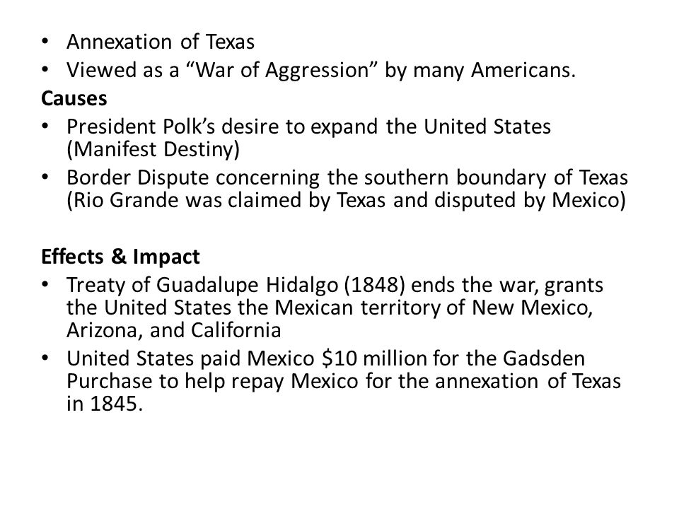 the causes and the effects of the mexican american war Find a summary, definition and facts about the mexican american war for kids timeline, map, summary and causes of the mexican american war timeline of the mexican american war for kids, children, homework and schools.