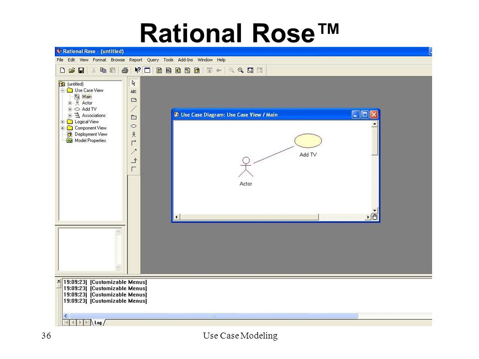 Rational Rose™ Use Case Modeling