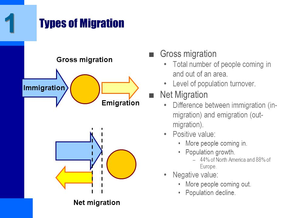 migration types in different countries One important facet of study on population is the study of migration arising out of various social, economic or political reasons for a large country like india, the study of movement of population in different parts of the country helps in understanding the dynamics of the society better.