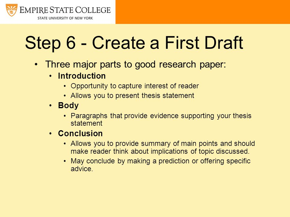 Term paper writing help the first draft