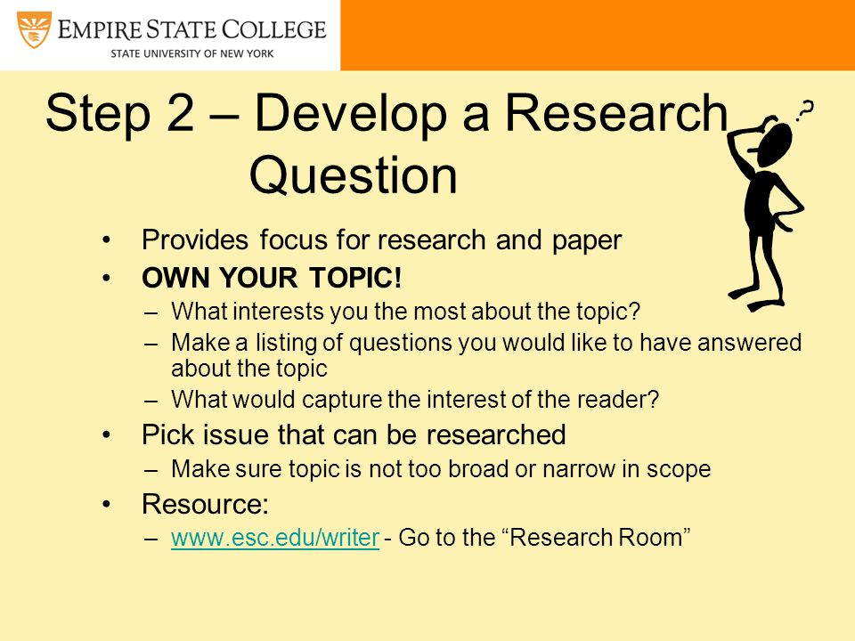 questions to answer when doing a research paper