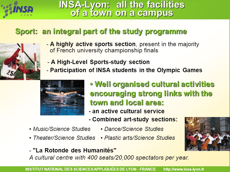 INSA-Lyon: all the facilities of a town on a campus