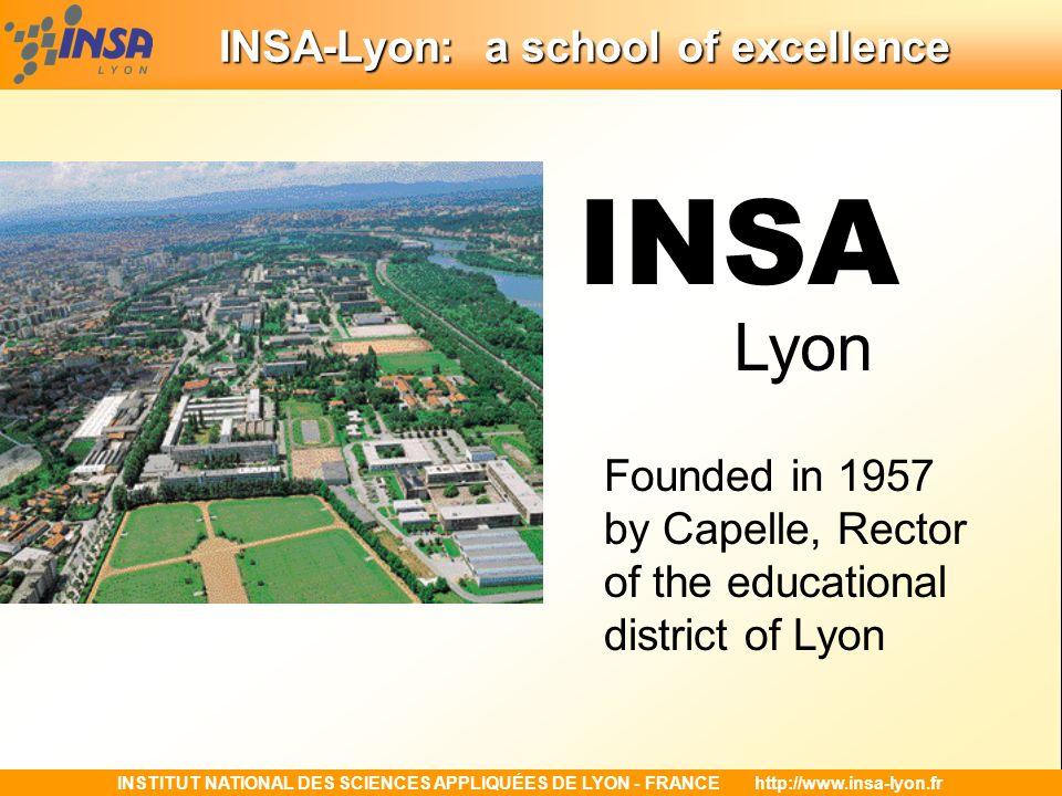 INSA-Lyon: a school of excellence