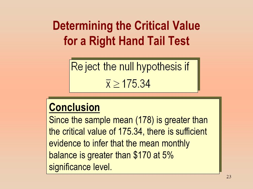 how to find critical value of sample mean