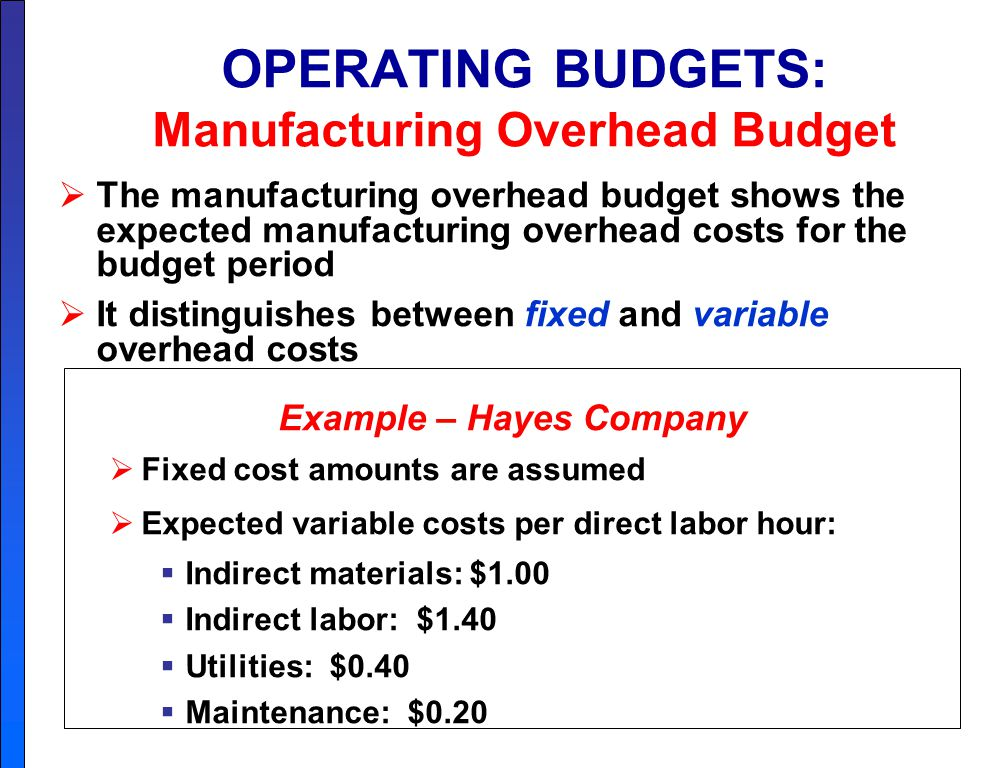 cost measurement maintaining the operating budget Overview of concepts and strategies for planning for, developing and maintaining financial reserves.