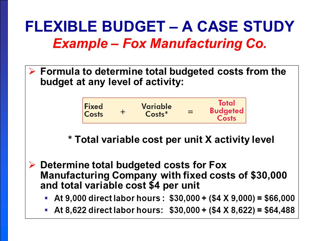 Chapter 9 BUDGETING A budget is a formal written statement ...