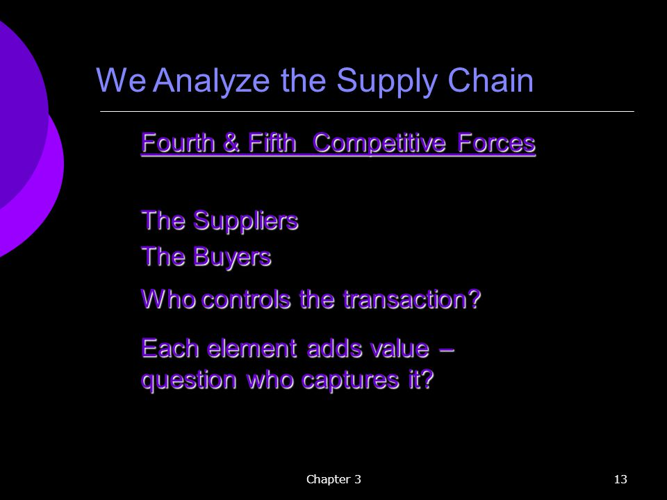 We Analyze the Supply Chain