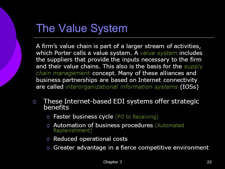 The Value System