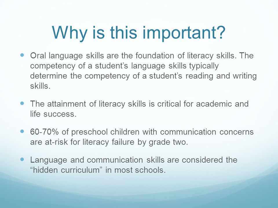 the necessary skills for a successful oral interpretation Download white paper elizabeth brooke, phd, ccc-slp, chief education officer, lexia learning and rosetta stone.