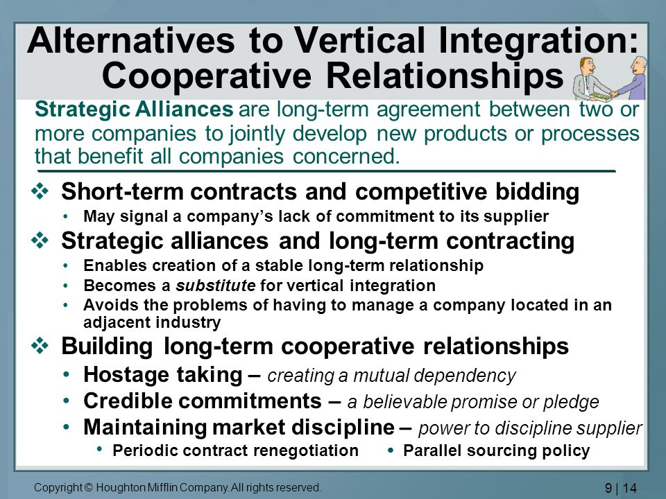 short term contracts and long agency relationship