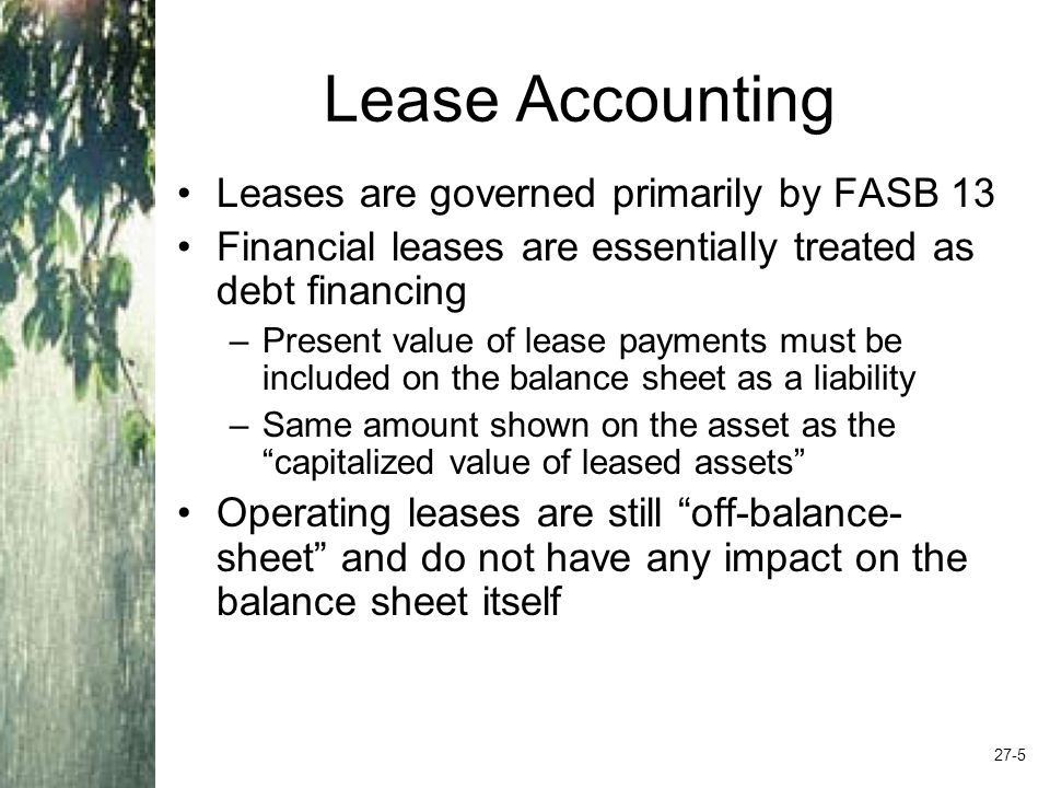 Criteria for a Capital Lease