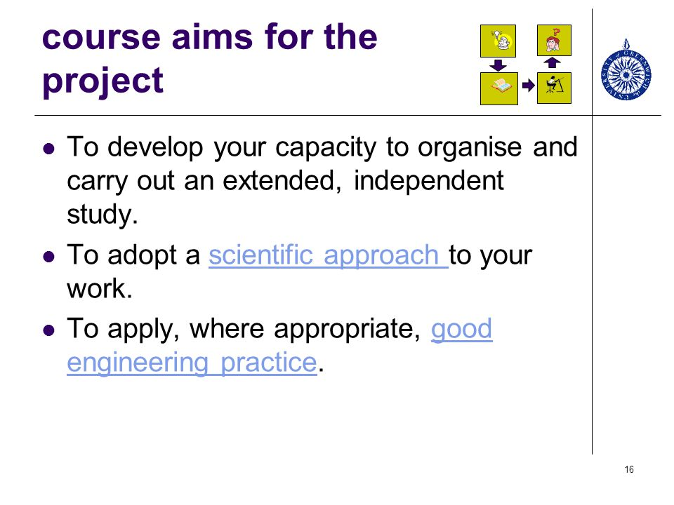 course aims for the project