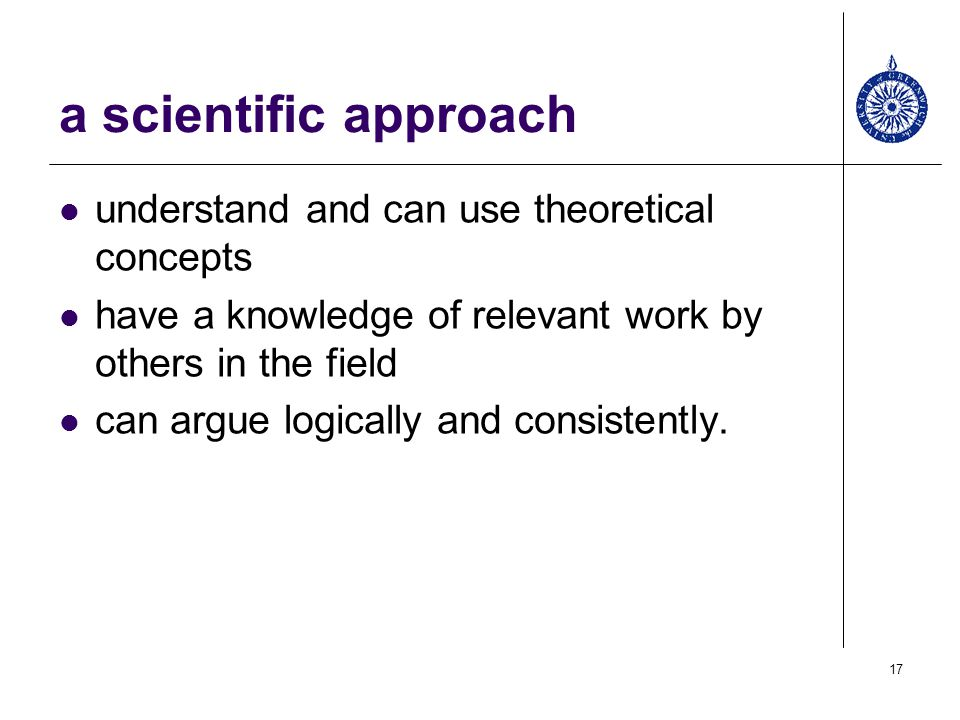 a scientific approach understand and can use theoretical concepts