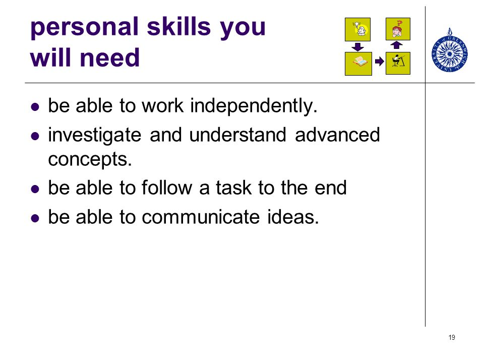 personal skills you will need
