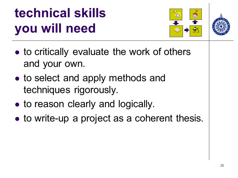 technical skills you will need