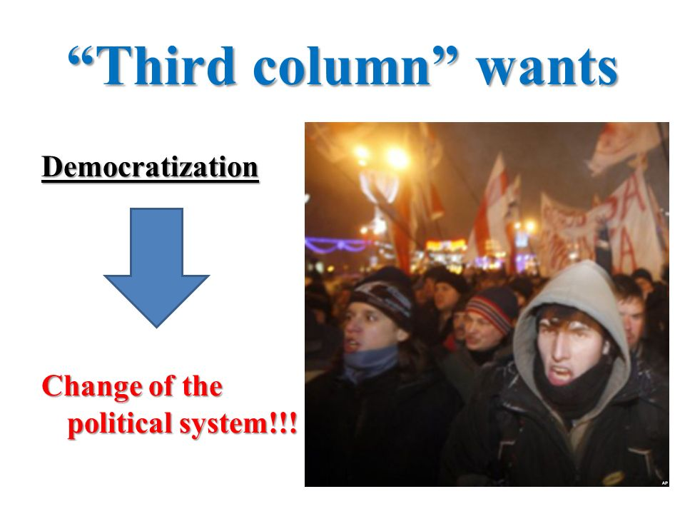 Third column wants Democratization Change of the political system!!!