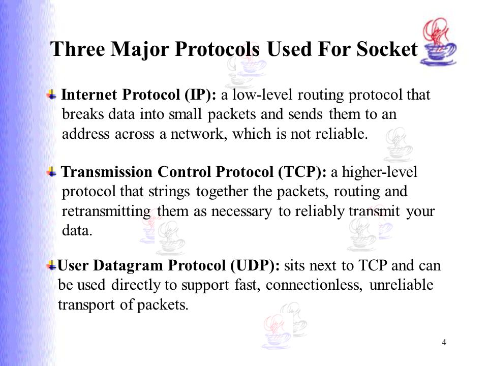 Three Major Protocols Used For Socket
