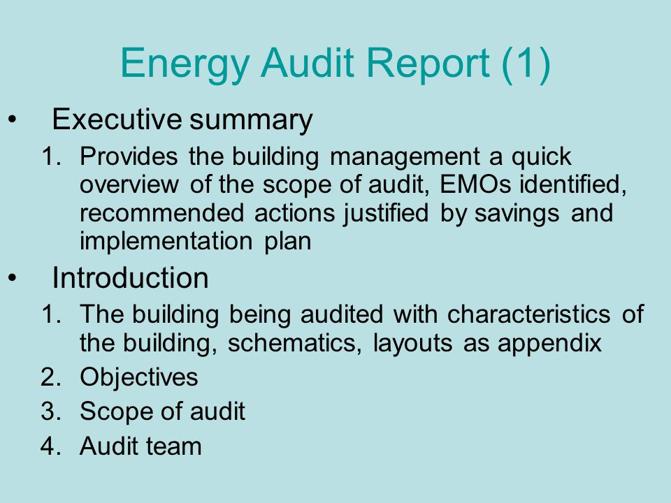 Energy Auditing Of Buildings Ppt Video Online Download