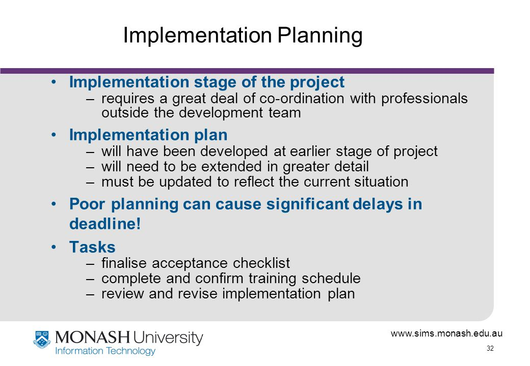 Trading system implementation project plan