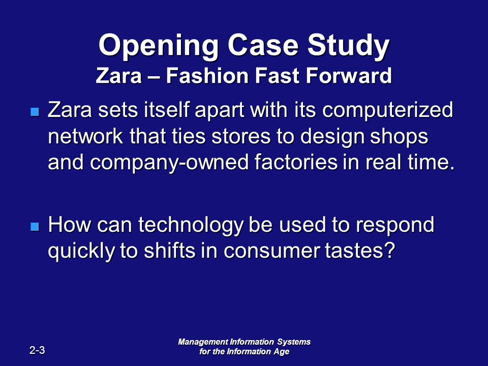 case study fast fashion References zara: it for fast fashion | 3 i case background a industry and company background industry background fashion is best defined as the style of clothing and accessories worn at any given time by groups of people.