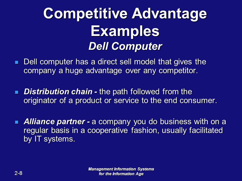 how information give you competitive advantage essay Information systems essay - organizational restructuring need to understand is that it can only confer business competitive advantage.