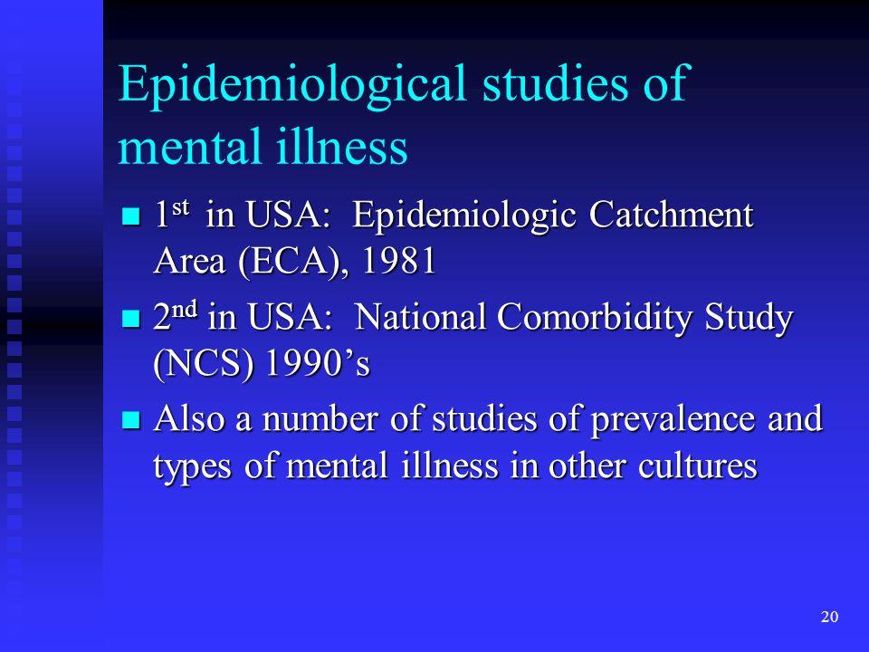The NIMH Epidemiologic Catchment Area program. Historical ...