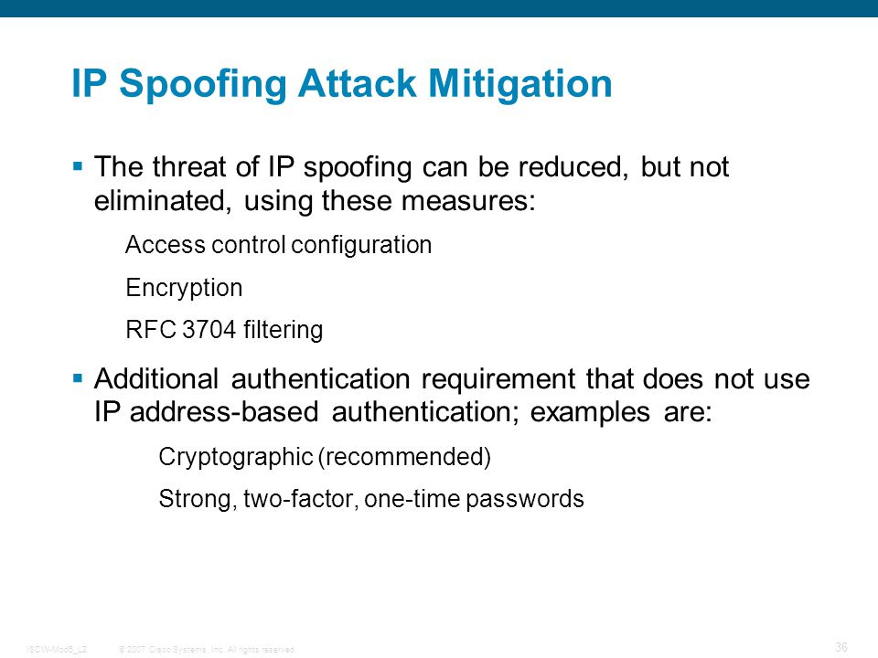 techniques of spoofing attacks Attack and the heavy economic and social impact that these attacks have the complexity, high visibility, and negative impacts of spoofing call for a comprehensive approach, including technology measures, better information and awareness, and social and regulatory tactics.