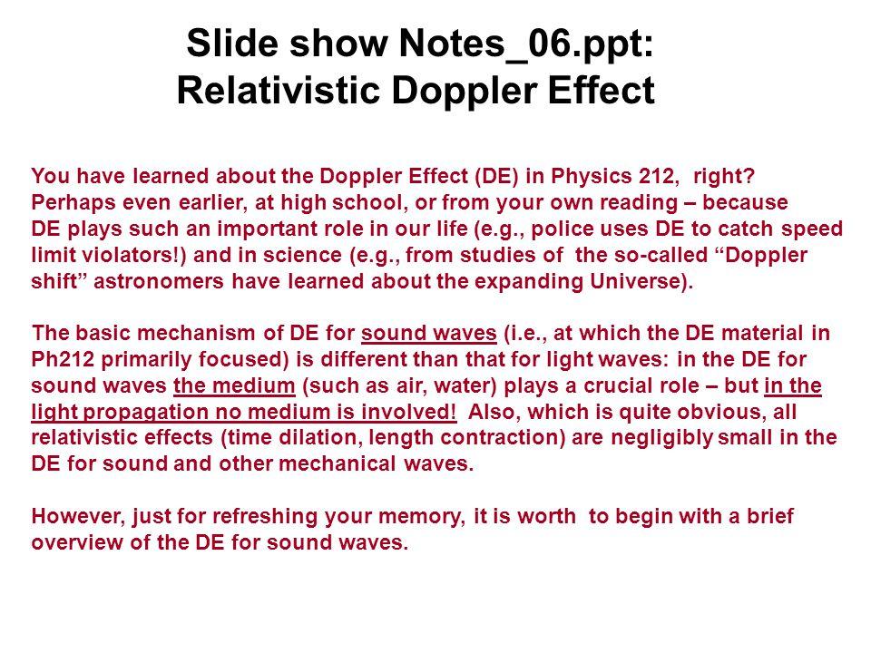 Doppler physics.