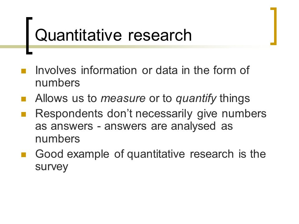 Glossary of sampling and quantitative research