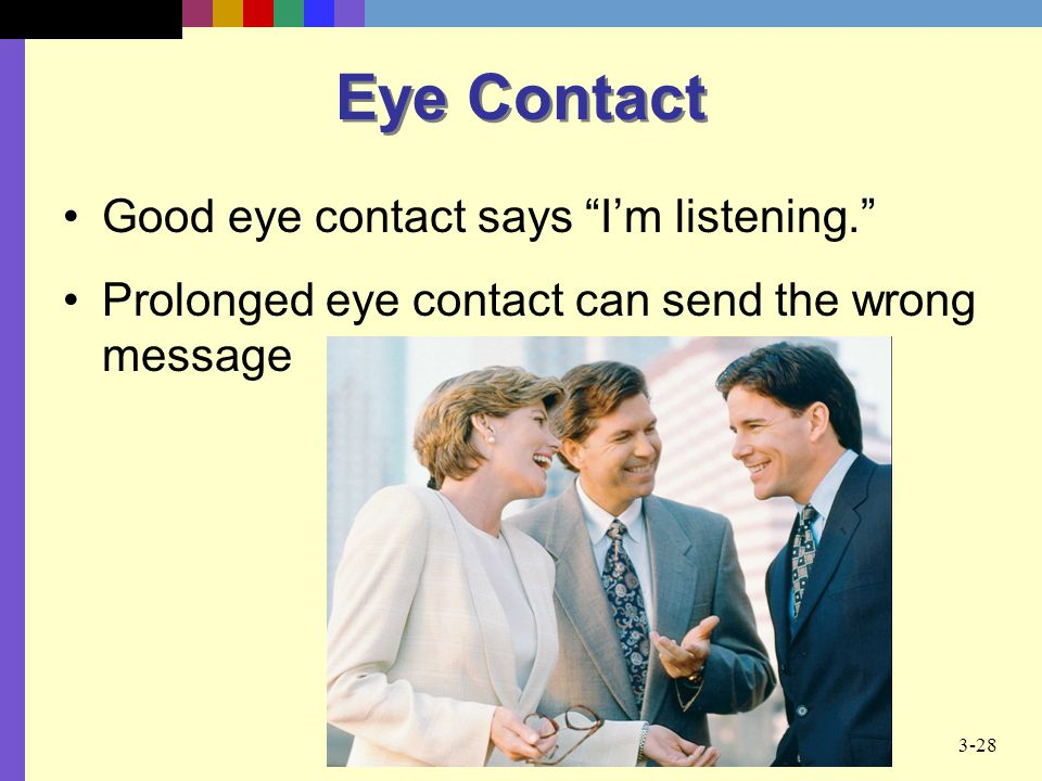 eye contact is particularly important in patron relationship
