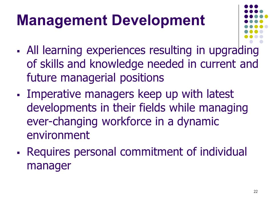Management Development