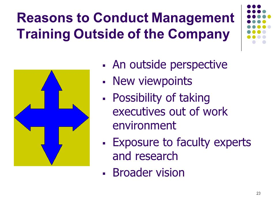 Reasons to Conduct Management Training Outside of the Company
