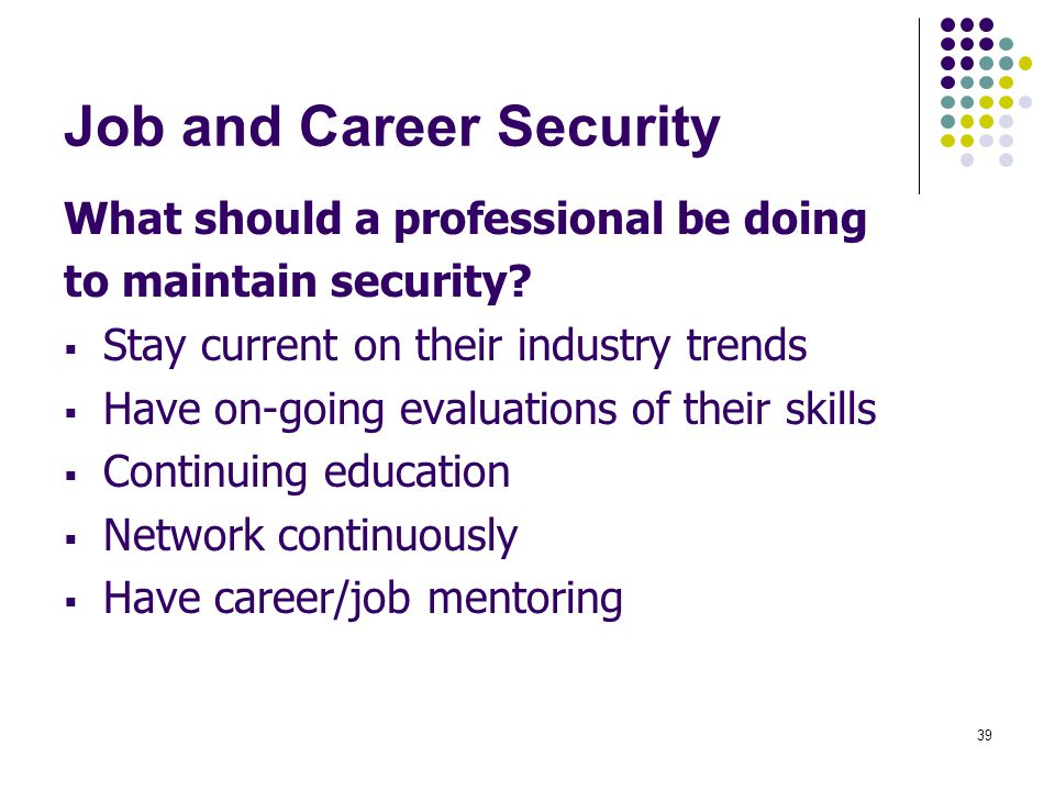 Job and Career Security