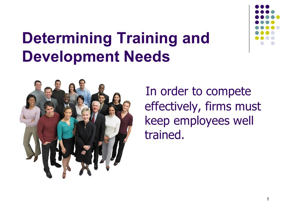Determining Training and Development Needs