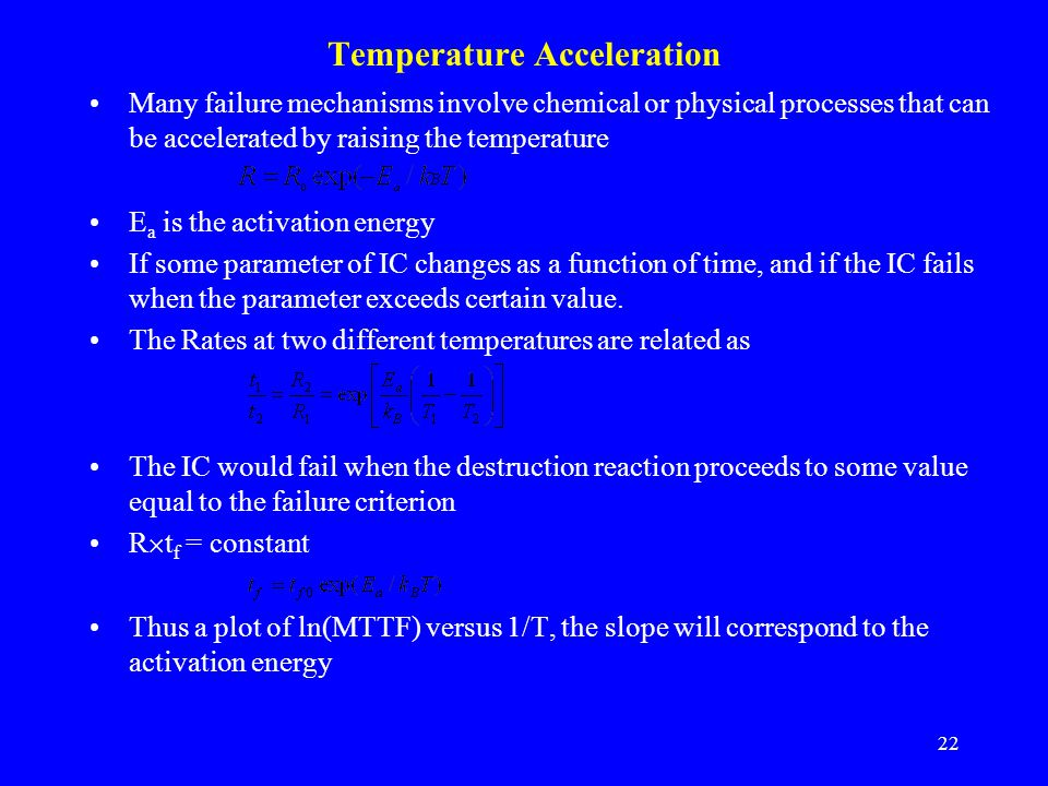 Temperature Acceleration