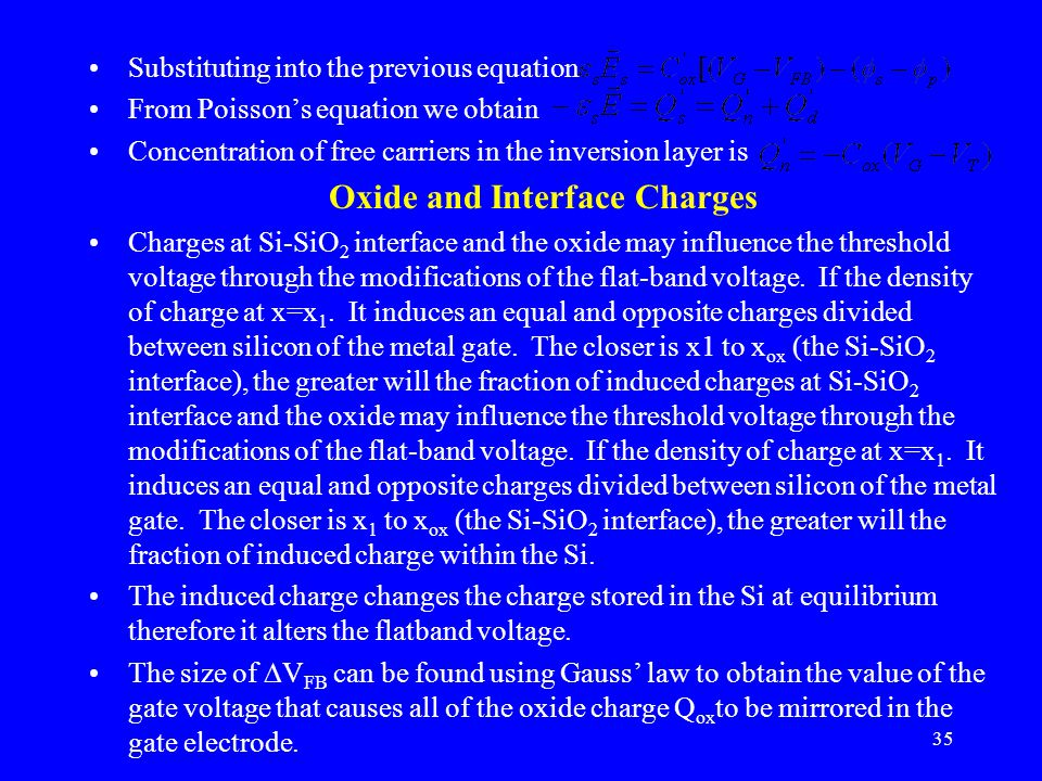 Oxide and Interface Charges