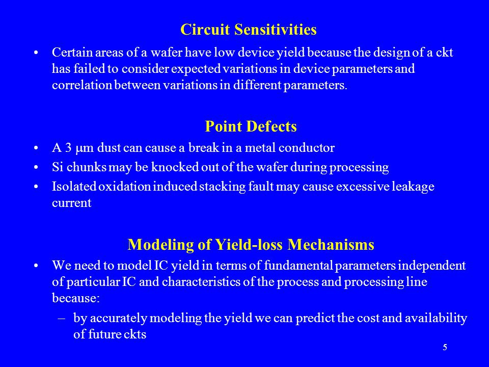 Circuit Sensitivities