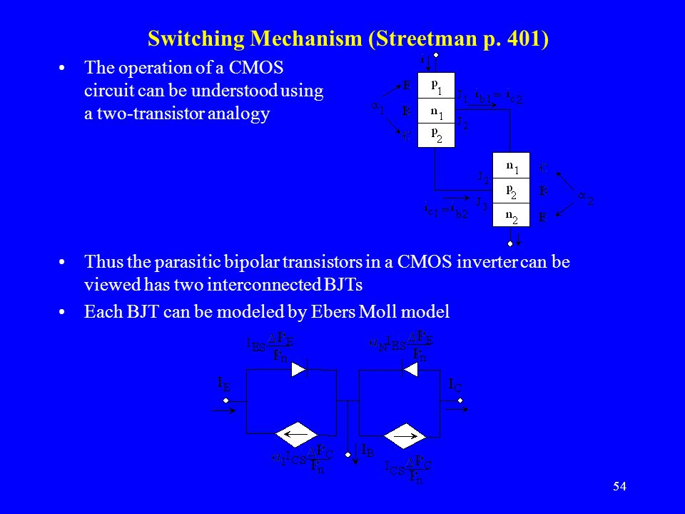 Switching Mechanism (Streetman p. 401)