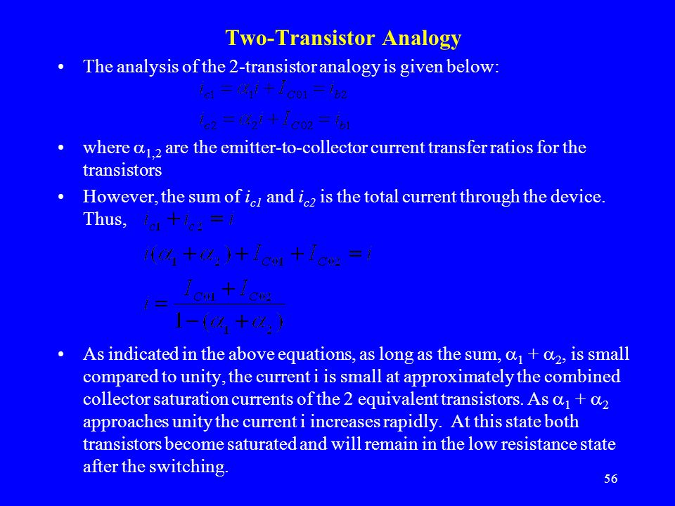 Two-Transistor Analogy