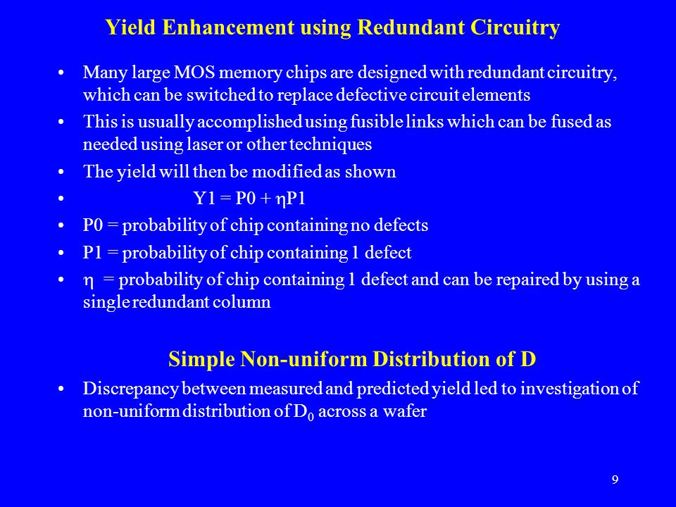 Yield Enhancement using Redundant Circuitry